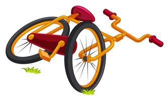 Bicicleta no chão vetor