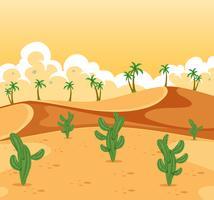 Uma bela paisagem do deserto