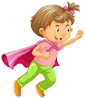 Um garoto jogando papel de super-herói vetor