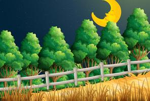Uma visão da lua adormecida na selva vetor