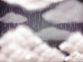 Céu de fundo no dia de chuva vetor
