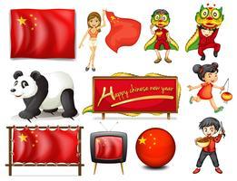 Conjunto de China vetor