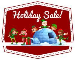 Rótulo de venda de férias vetor