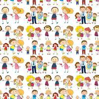 Família sem emenda vetor