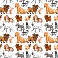 Cães sem costura vetor