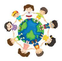 Crianças ao redor do mundo vetor