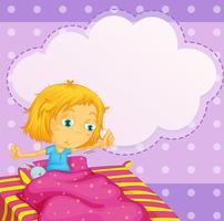 Garota sonhando vetor