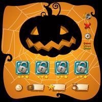 Modelo de jogo com tema de halloween vetor