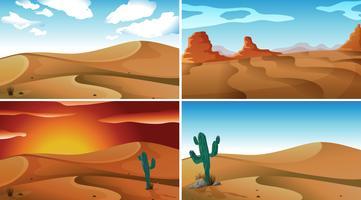 Desertos vetor