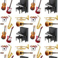 Musical sem costura vetor