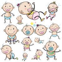 Um grupo de bebês vetor