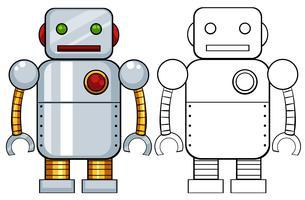Brinquedo do robô vetor