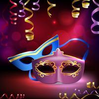 Fundo de máscaras de carnaval vetor