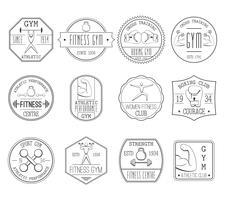 Conjunto de logotipos de fitness e esportes vetor