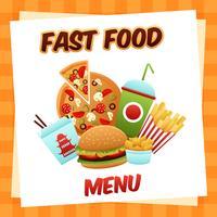 Menu de Fast Food vetor