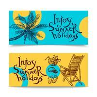 Banners de praia de verão