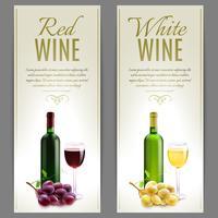 Conjunto de Banner de vinho vetor