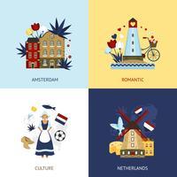 Conceito de design de Holanda vetor