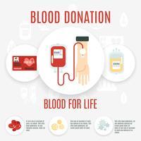 Ícone de doador de sangue vetor