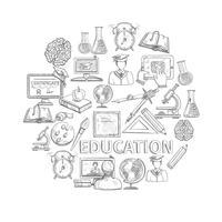 Esboço de conceito de educação vetor