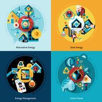 Conjunto de eficiência energética vetor
