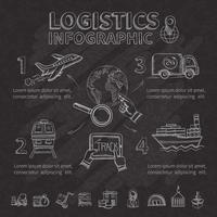 Conjunto de infográfico logístico vetor
