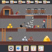 Interface do jogo de mineração vetor