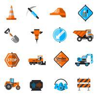 Ícones de reparação de estrada