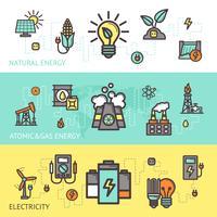 Conjunto de Banner de energia