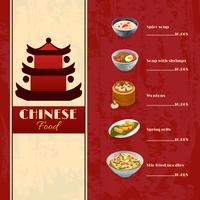 Menu de comida asiática vetor