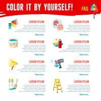Infografia de trabalho de pintura