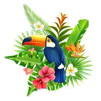 Ilustração de flores tropicais vetor