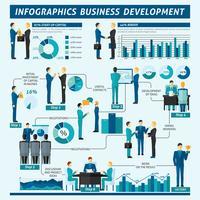 Conjunto de infográficos de empresários vetor