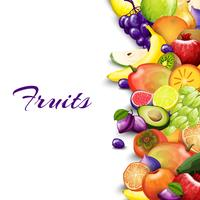 Fundo de fronteira de frutas vetor