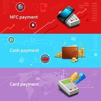 Conjunto de Banners de pagamento