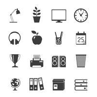 Conjunto de ícones de sala