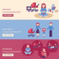 Conjunto de Banner de maternidade vetor