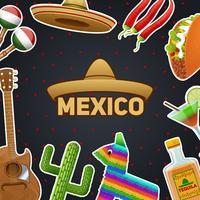 Ilustração de símbolos mexicanos vetor