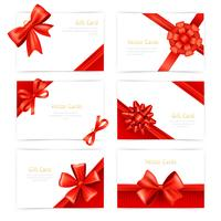 Conjunto de cartões de presente