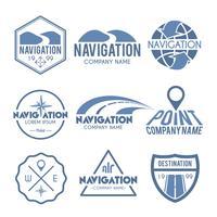 Etiqueta de Navegação Cinza vetor