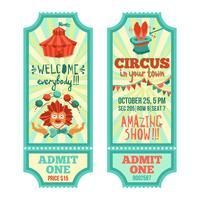 Conjunto de ingressos de circo vetor
