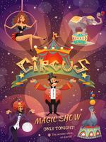 Cartaz da mostra do circo vetor