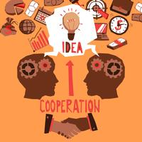Ilustração de cooperação empresarial vetor