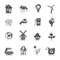 Conjunto de ícones de energia eco