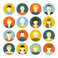 Conjunto de ícones de avatares vetor