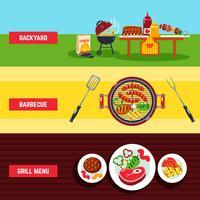Conjunto de Banner de churrasco