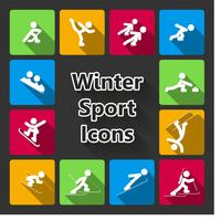 Ícones de esportes de inverno vetor