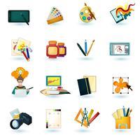 Conjunto de ícones do designer vetor