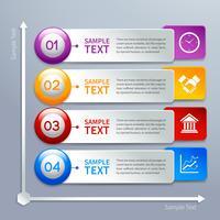 Modelo de infográficos de papel