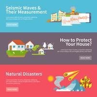 Banners de desastres naturais